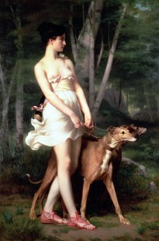 Retrato de la diosa Artemisa